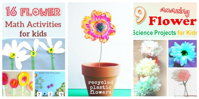 Mother's Day STEM Flower project at Castle View Academy homeschool