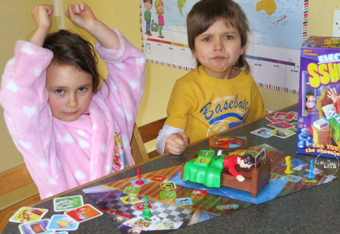 Playing Sshh! Don't Wake Dad! distracts from illness at Castle View Academy homeschool