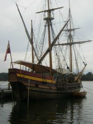 The replica Maryland Dove, a working square-rigged ship