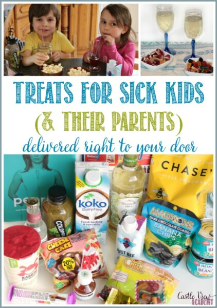 Treats for sick kids and their parents delivered right to your door by Degustabox are welcomed at Castle View Academy homeschool