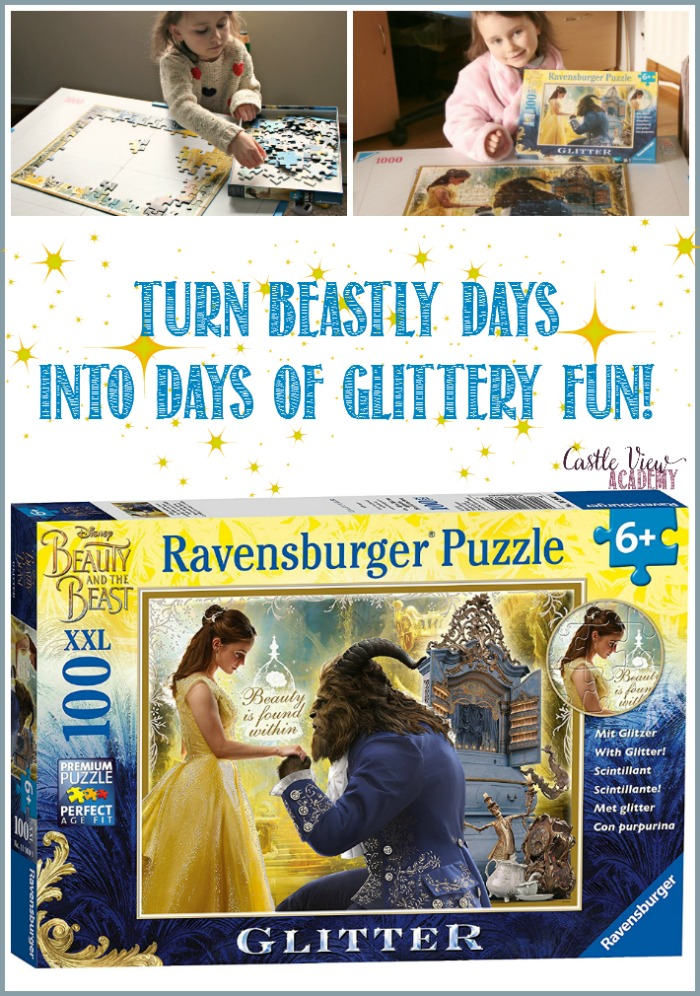 Turn beastly days into days of glittery fun with te Beauty and the Beast Puzzle, it's working for Castle View Academy!