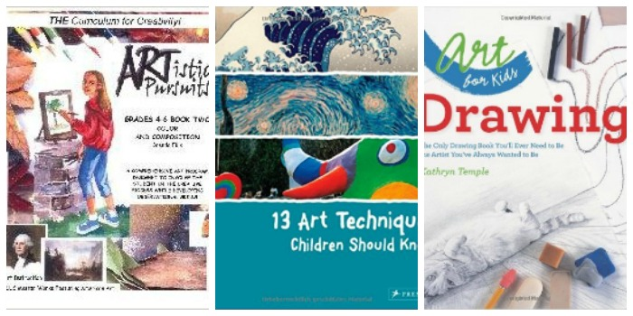 Art technique books at Castle View Academy homeschool