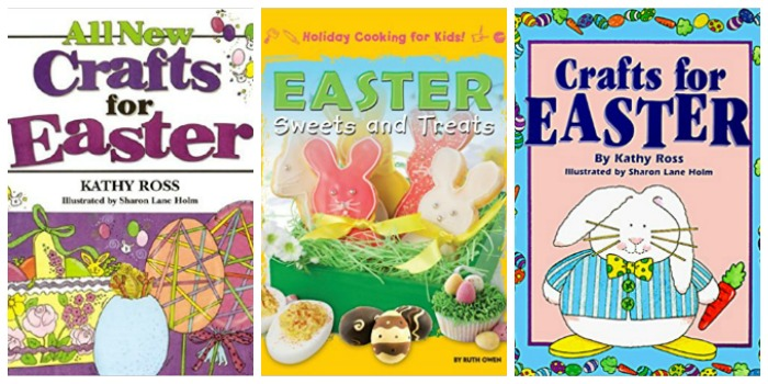 Books with Easter crafts and Easter Treats at Castle View Academy homeschool
