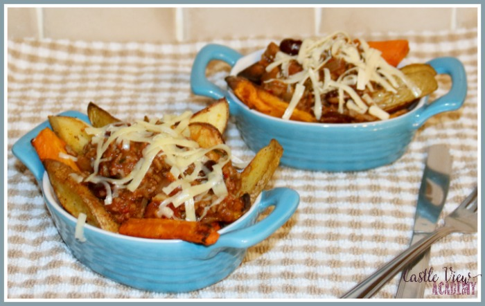 Healthy Cheesy Chilli Fries are ready for Castle View Academy homeschool