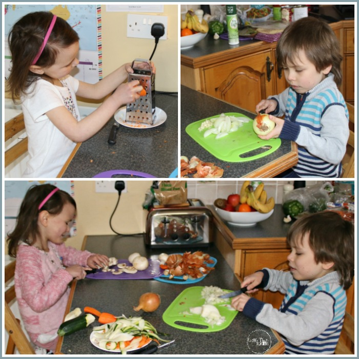 Helping make dinner means time together and feeling a part of the family at Castle View Academy homeschool