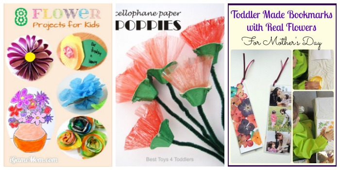 Mother's Day STEAM Flower projects for kids at Castle View Academy homeschool