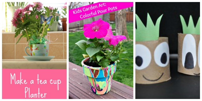 Mother's Day STEAM garden crafts for kids at Castle View Academ homeschool