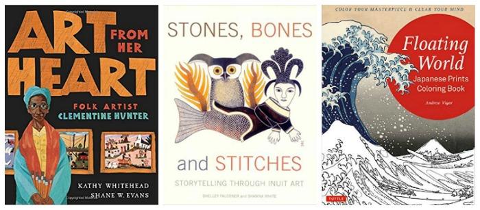 Multicultural art books aat Castle View Academy homeschool