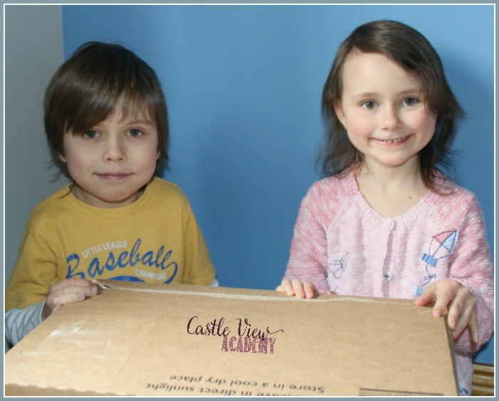Ready to open Hotel Chocolat delivery box at Castle View Academy homeschool