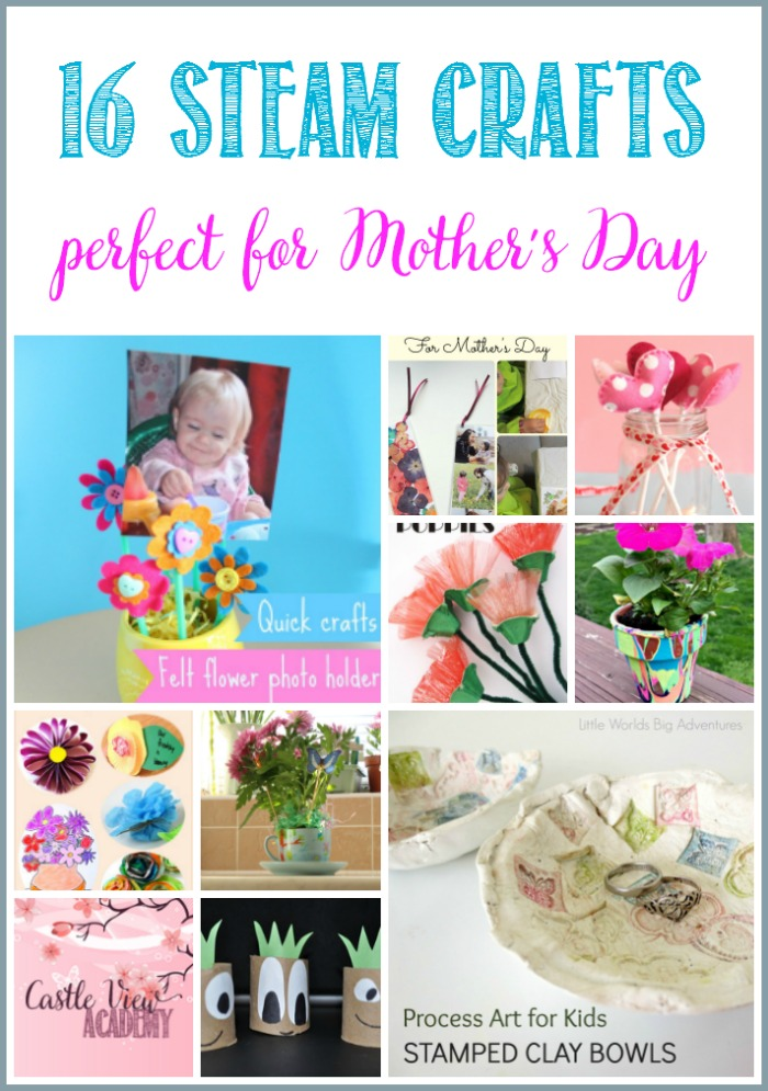 STEAM crafts for kids that are perfect for Mother's Day at Castle View Academy homeschool