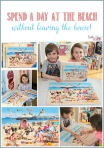Spend a day at the beach without leaving the house with Ravensburger and Castle View Academy homeschool