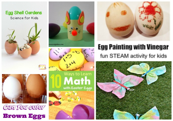 Using eggs for math, science, and crafts - Castle View Academy homeschool