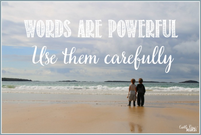 Words Are Powerful, use them carefully with Castle View Academy homeschool