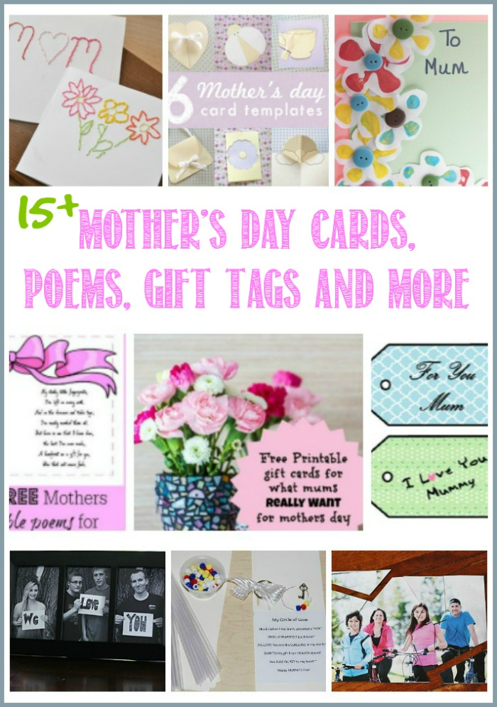 15+Mother's Day Cards, Poems, Gift Tags And More at Castleviewacademy.com