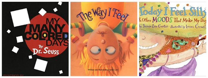Books about emotions at Castle View Academy homeschool
