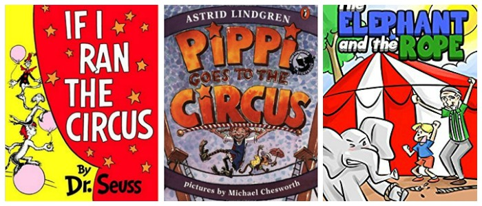 Circus books for kids at Castle View Academy homeschool