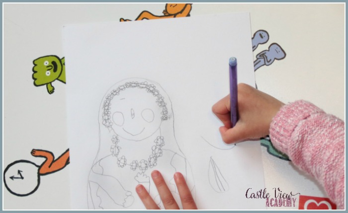 Drawing lessons from ArtAchieve at Castle View Academy homeschool