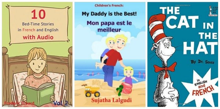 Duo language books for kids in English and French at Castle View Academy homeschool