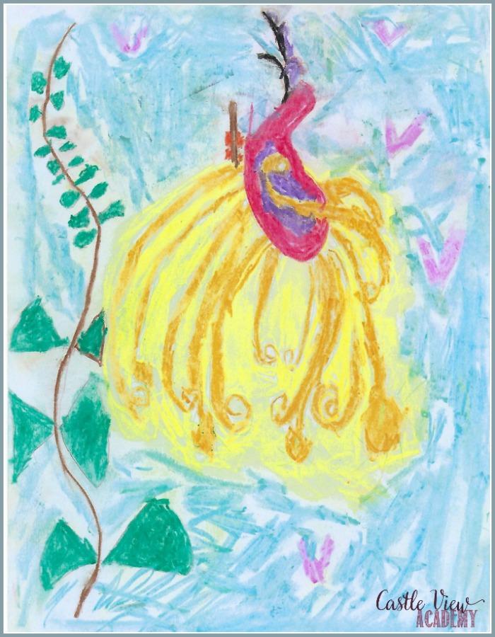 Eastern European Firebird using ArtAchieve at Castle View Academy homeschool