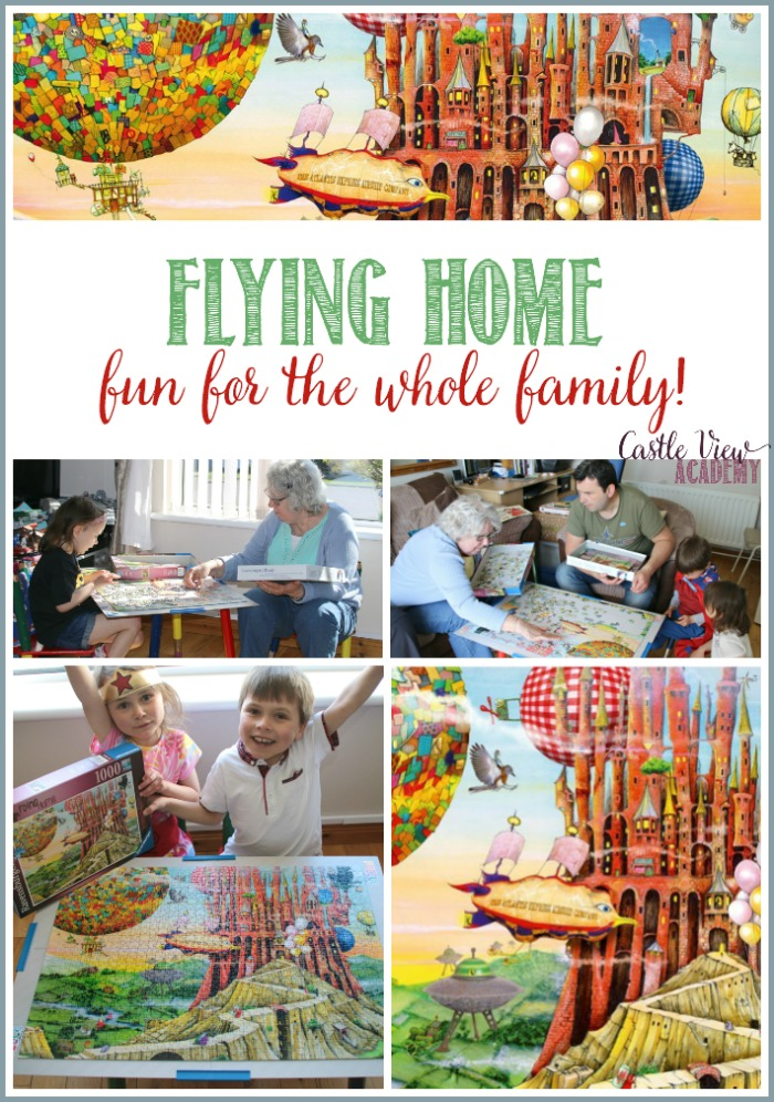 Flying Home puzzle is fun for the whole family at Castle View Academy homeschool