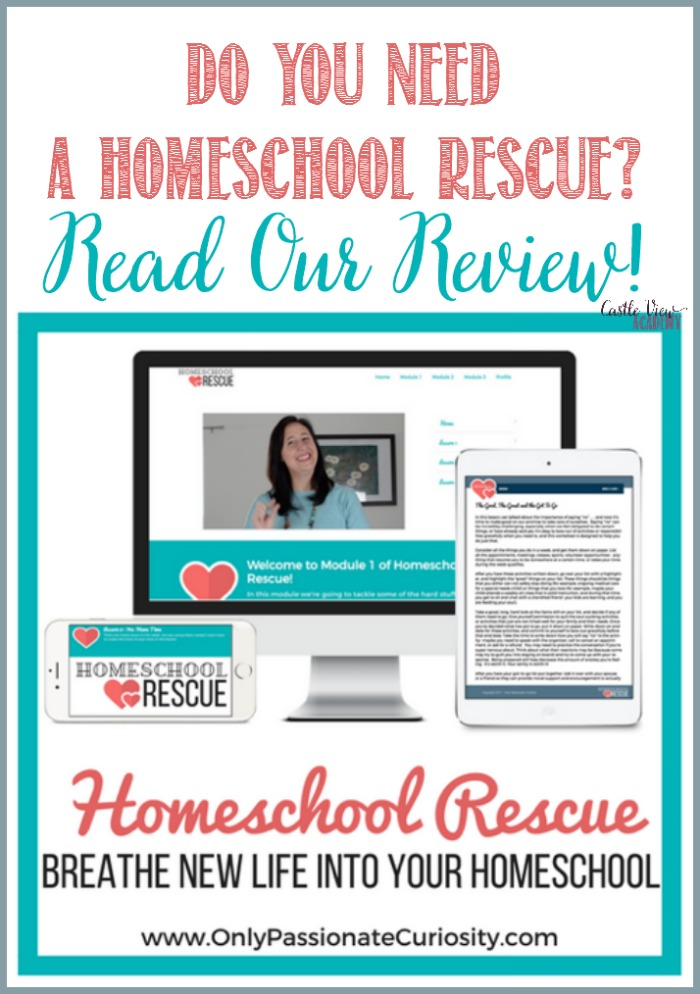 Homeschool Rescue online course, breathe new life into your homeschool, a review by Castle View Academy homeschool