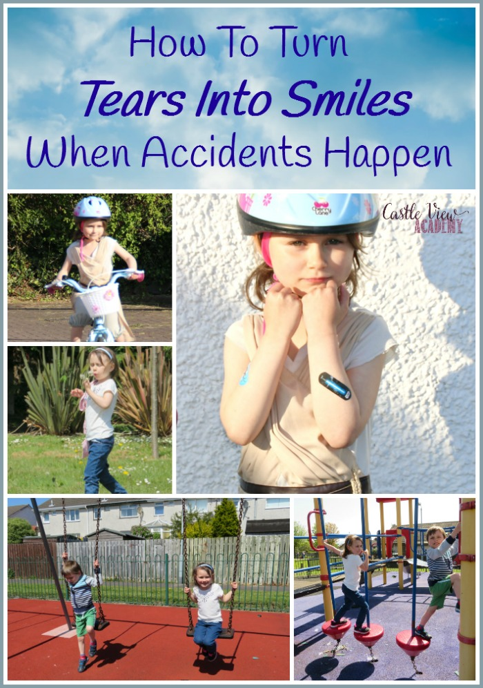 How to turn tears into smiles when accidents happen with Castle View Academy homeschool