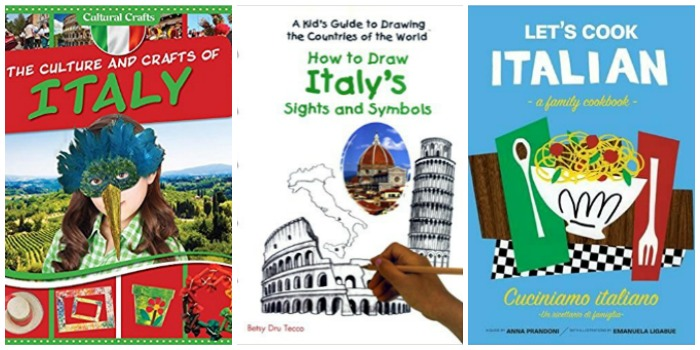 Italian crafts and Italian food for kids at Castle View Academy homeschool