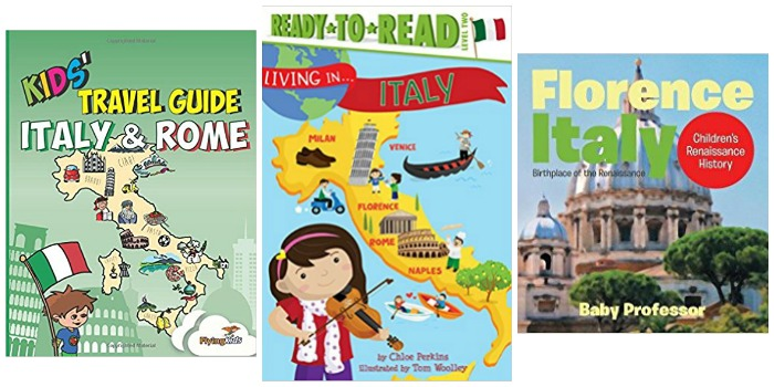 Kids books about Italy at Castle View Academy homeschool