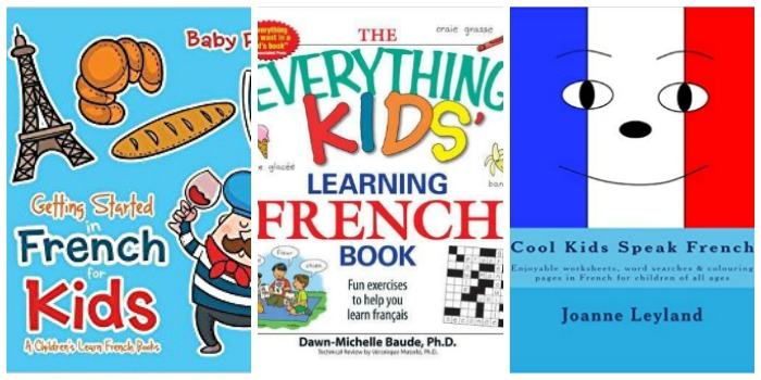Kids books for learning French at Castle View Academy homeschool