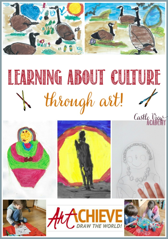 Learning about culture through art with ArtAchieve at Castle View Academy homeschool