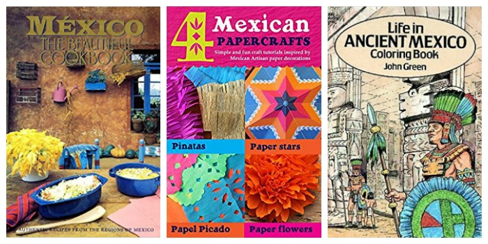 Mexican foods and craft books at Castle View Academy homeschool