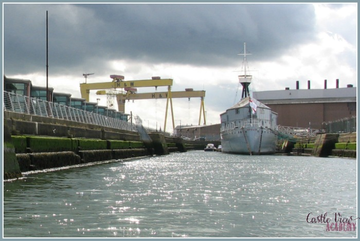 Titanic Boat Tour in Belfast with Castle View Academy homeschool
