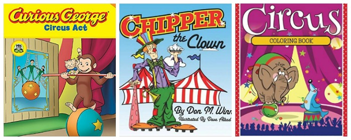 kids circus books at Castle View Academy homeschool