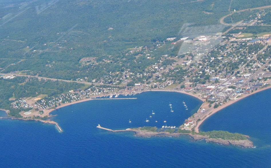Grand-Marais-MN-aerial-view, The Wise Owl Factory writes for Castle View Academy homeschool