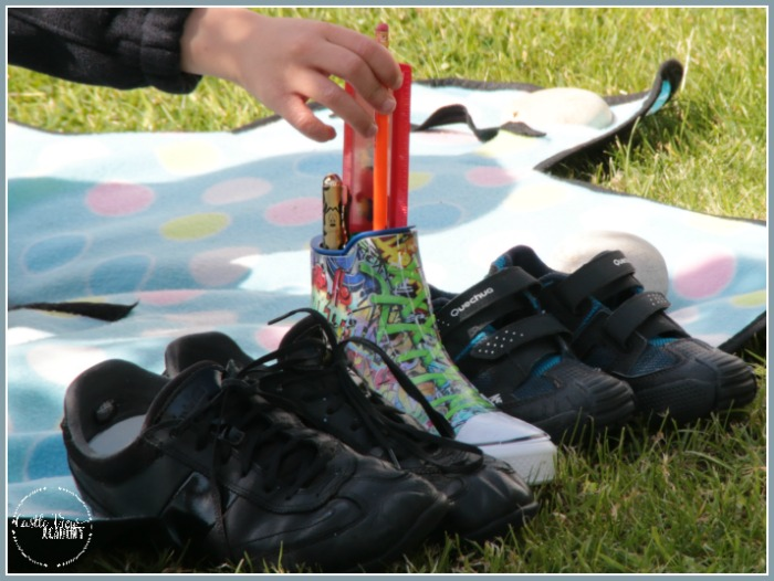 3D Graffiti Sneaker pencil pot is a hit with Castle View Academy homeschool