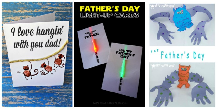 Awesome kid-made Father's Day cards at Castle View Academy homeschool