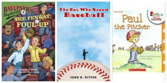 Baseball storybooks for kids at Castle View Academy homeschool
