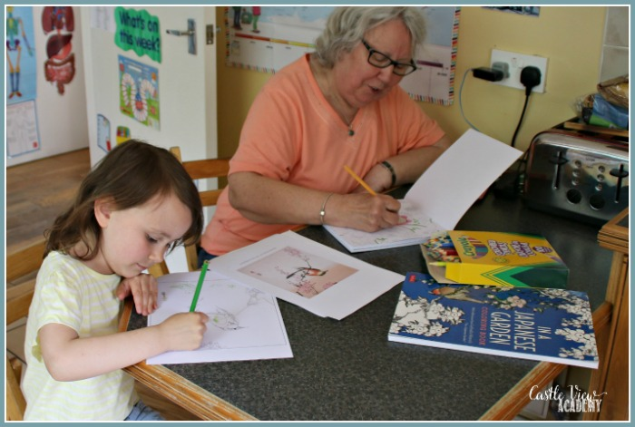 Bonding with Nana thanks to Tuttle Publishing at Castle View Academy homeschool