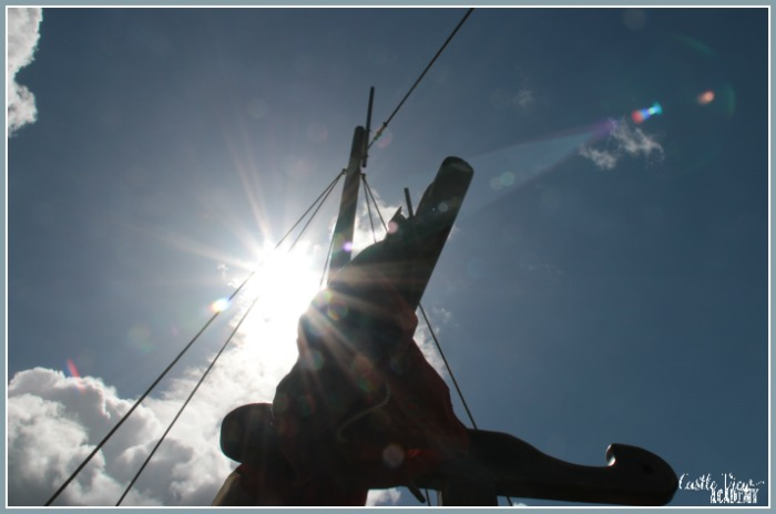 Contra Jour photo from a Viking boat with Castle View Academy homeschool