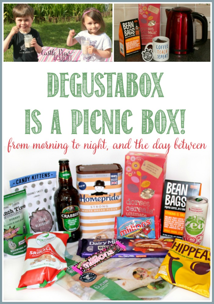 Degustabox is a Picnic Box! Unboxing at Castle View Academy homeschool