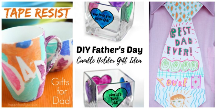 Father's Day gifts made by kids at Castle View Academy homeschool