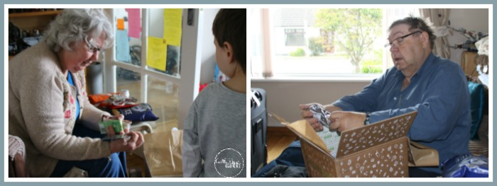 Grandparents experience a Degustabox opening at Castle View Academy homeschool
