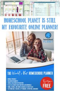 Homeschool Planet Is Still My Favourite Online Planner at Castle View Academy homeschool
