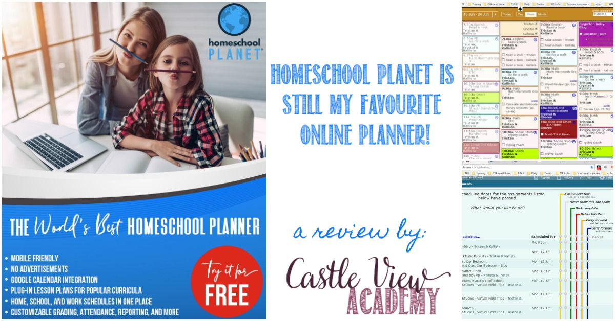 Homeschool Planet Is Still My Favourite Online Planner for Castle View Academy homeschool
