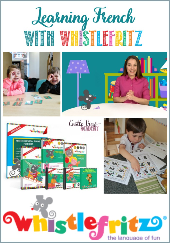 Learning French with Whistlefritz at Castle View Academy homeschool