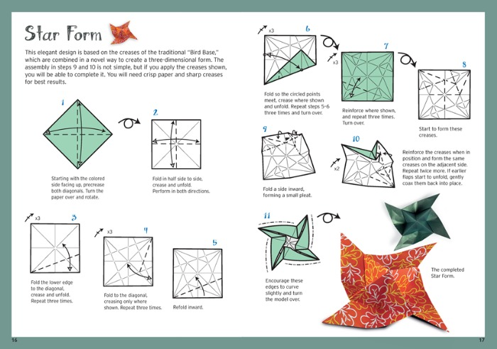 Make a star with Beginning Origami Kit
