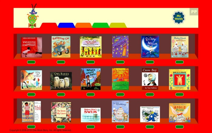 One More Story red bookshelf as reviewed by Castle View Academy homeschool
