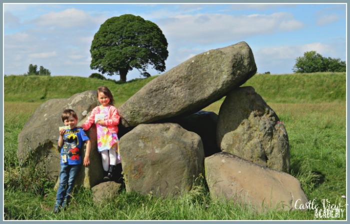 Snacks at the Giant's Ring with Castle View Academy homeschool