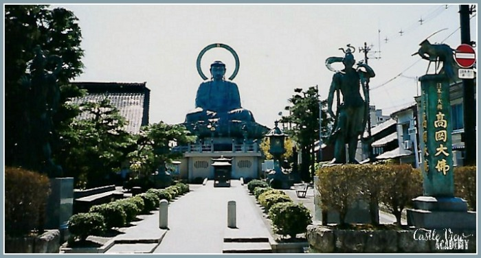 Takaoka Daibutsu is Japan's 3rd largest Buddha, Castle View Academy homeschool
