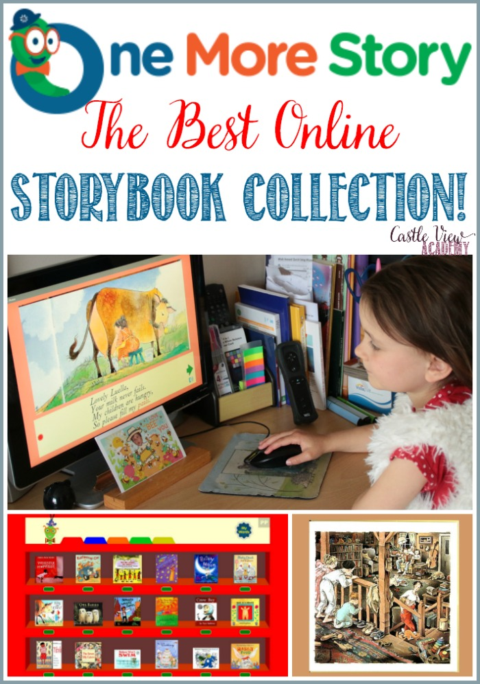 The Best Online Storybook Collection! One More Story as reviewed by Castle View Academy homeschool